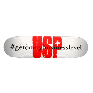 "Shred that ""U.S.P."" Skateboard Deck"