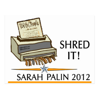 Shred the constitution postcard