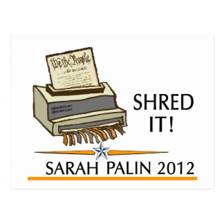 Shred the constitution post card