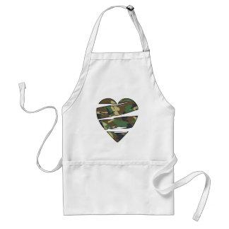 Shredded Camo Heart Adult Apron