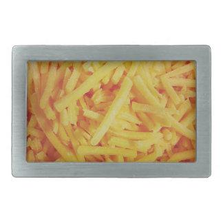 Shredded Cheddar Cheese Rectangular Belt Buckles
