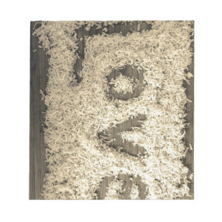 Shredded coconut Love Notepad