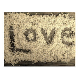 Shredded coconut Love Postcard