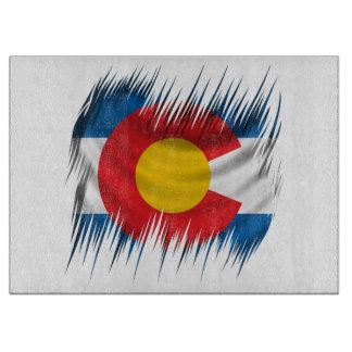 Shredded Colorado Cutting Board