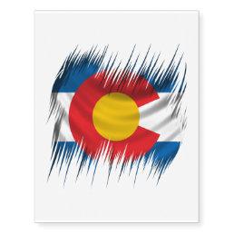 Shredded Colorado Temporary Tattoos