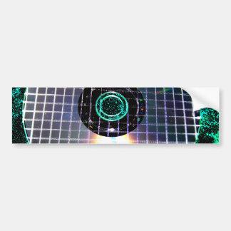 Shredded Disco Galaxy CD Bumper Sticker