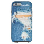 Shredded Threads - Ripped Denim Blue Jeans Tough iPhone 6 Case