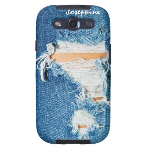 Shredded Threads - Ripped Denim Blue Jeans Galaxy S3 Cover