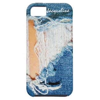 Shredded Threads - Ripped Denim Blue Jeans iPhone SE/5/5s Case