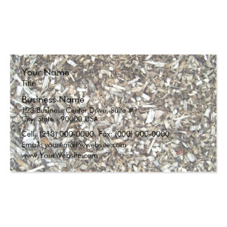 Shredded wood chips Double-Sided standard business cards (Pack of 100)
