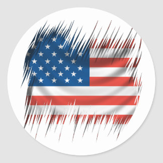 Shredders American Flag Classic Round Sticker