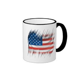 Shredders American Flag Ringer Mug