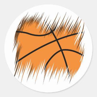 Shredders Basketball Classic Round Sticker
