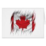 Shredders Canadian Flag Greeting Card
