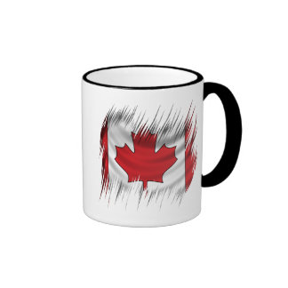 Shredders Canadian Flag Ringer Mug