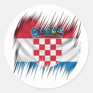Shredders Croatian Flag Classic Round Sticker