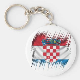 Shredders Croatian Flag Keychain