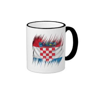 Shredders Croatian Flag Ringer Mug