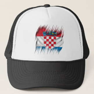 Shredders Croatian Flag Trucker Hat