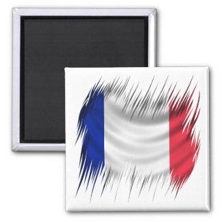 Shredders French Flag 2 Inch Square Magnet