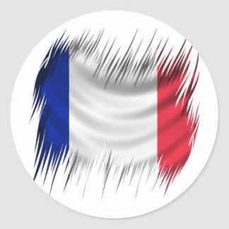 Shredders French Flag Classic Round Sticker