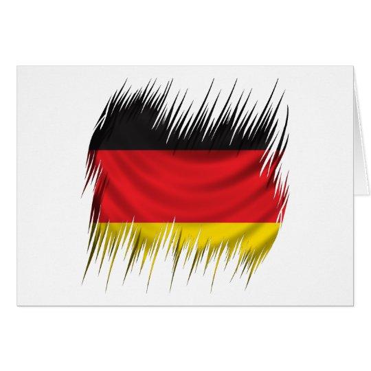 Shredders German Flag Card