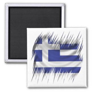Shredders Greek Flag 2 Inch Square Magnet