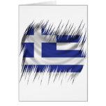Shredders Greek Flag Greeting Card