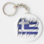 Shredders Greek Flag Keychains