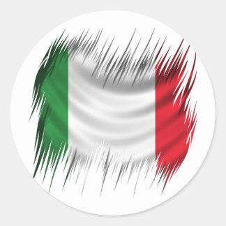 Shredders Italy Flag Classic Round Sticker