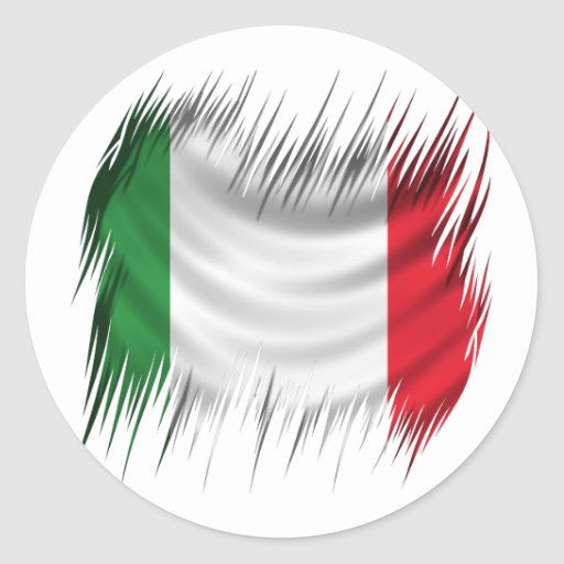 Shredders Italy Flag Round Stickers