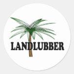Shredders Landlubber Classic Round Sticker