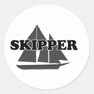 Shredders Skipper Classic Round Sticker