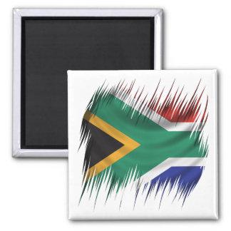 Shredders South Africa Flag 2 Inch Square Magnet