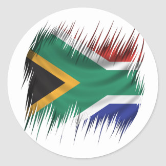 Shredders South Africa Flag Classic Round Sticker