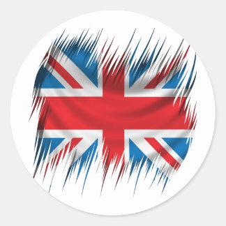 Shredders Union Jack Flag Classic Round Sticker