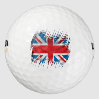 Shredders Union Jack Flag Golf Balls