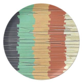 Shreds of Color Melamine Plate