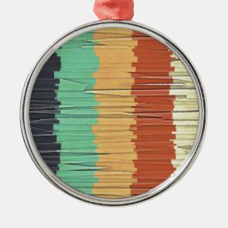 Shreds of Color Metal Ornament