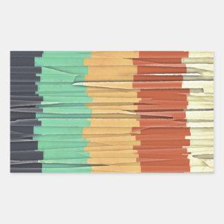 Shreds of Color Rectangular Sticker