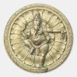 Shree Ganesh Etiqueta Redonda