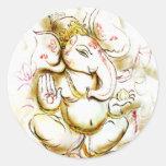 Shree Ganesh Pegatinas Redondas