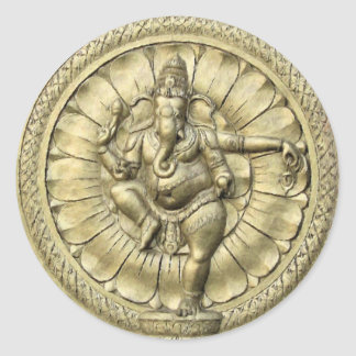 Shree Ganesh Round Sticker