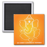 Shree Ganesha - dios indio Imán De Frigorifico