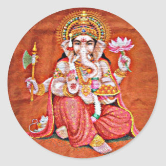 Shree Ganeshya Pegatina Redonda