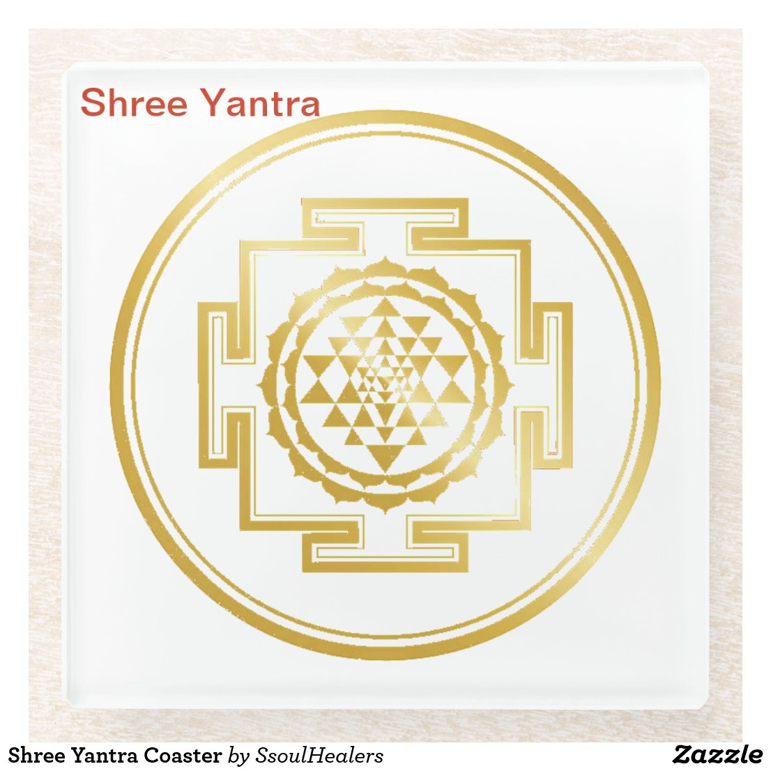 Shree Yantra Coaster