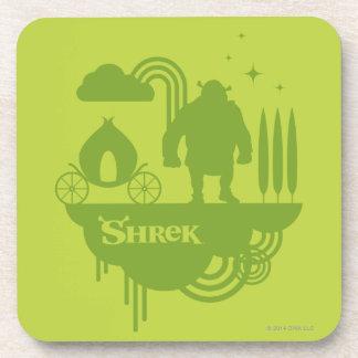 Shrek Fairy Tale Silhouette Beverage Coaster