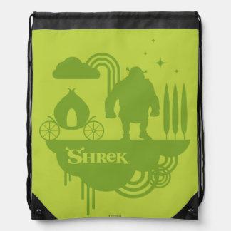 Shrek Fairy Tale Silhouette Drawstring Backpacks