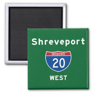Shreveport 20 2 inch square magnet