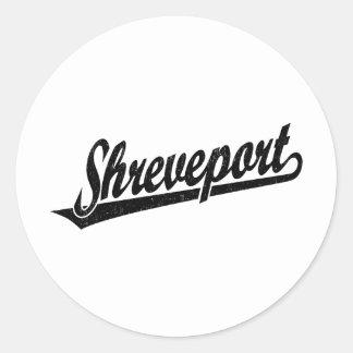 Shreveport en el negro apenado etiqueta